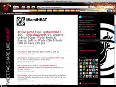 Miami Heat Browser Theme
