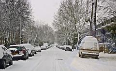 Winter on my street (Julie70 Joyoflife) Tags: winter snow london photo unitedkingdom hiver lewisham londres angleterre snowing neige 2010 julie70 copyrightjkertesz havazik ninge photojuliekertesz ilneige photojulie70