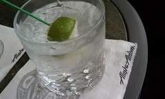 The trip has officially begun. (hey skinny) Tags: seattle airport australia tony gin tonic 2010