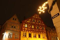 Ladenburg Innenstadt (Steffen und Christina) Tags: schnee light snow germany deutschland star illumination stern aaa beleuchtung bbb sternschnuppe fachwerkhaus framehouse ladenburg neugasse zumgoldenenlwen