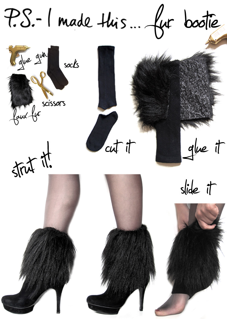 PS I Made This.. fur sock tutorial