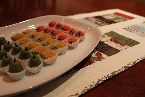 Marzipan on Christmas Table Runner