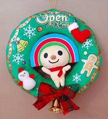 Open Xmas & New Year花環掛飾