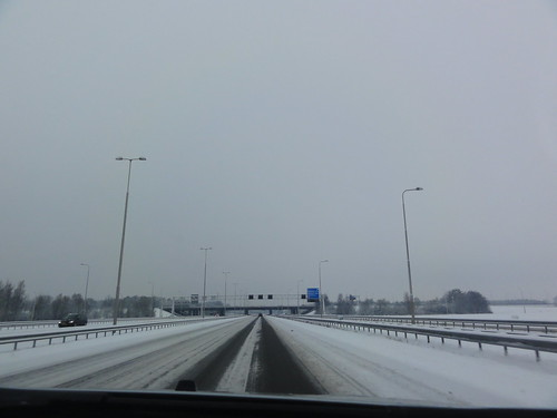 Highways in Holland covered in snow