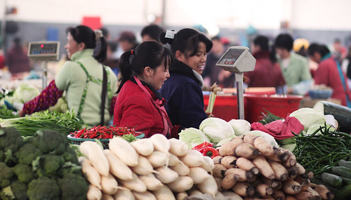 Yangshuo local market, day 45