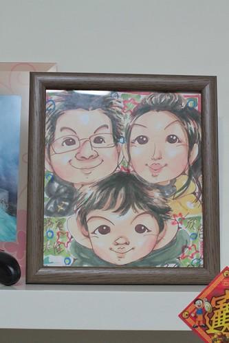 街頭素人畫的樂一家的畫像