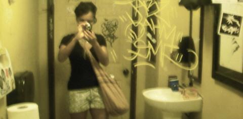 adrienne in bathroom