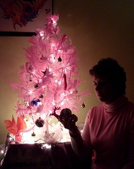 This Christmas (Georgie_grrl) Tags: christmas pink decorations selfportrait toronto me loss myself sadness lights feathers christmastree grief selfie deepbreath mydarkpinkside samsungd760 itsgoingtobeahardone firstonewithoutmysister illmakeitthroughthisiknowit itsjustnotgoingtobeeasy agiftfromshelna