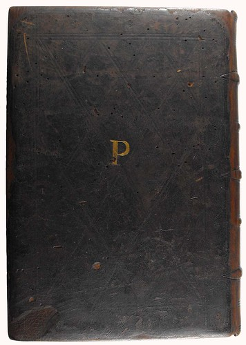 Binding stamped with initials of Guillaume Prousteau from Sidonius Apollinaris: Epistolae et carmina