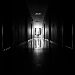 Ghosts (_razvan) Tags: white black halls ghosts iasi