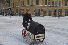 Winter Traffic Copenhagen Cargo Bike