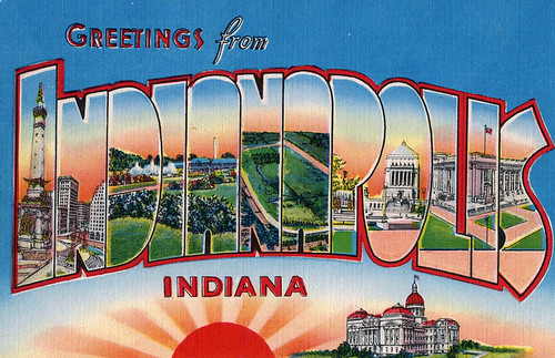 Greetings from Indianapolis, Indiana - Large Letter Postcard