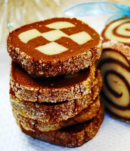 Checkerboard And Spiral Cookies Duhlicious