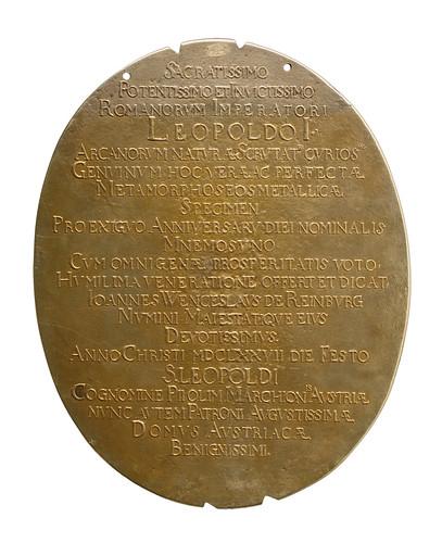 Alchemistisches Medaillon Kaiser LeopoldI