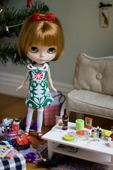 aftermath (JennWrenn) Tags: christmas doll boxingday cleanup blythe maxine primadollyaubrena itsaroughjobbutsomeonehastodoit