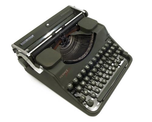 Hermes Media typewriter