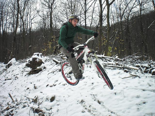 snow bike, bike nella neve,