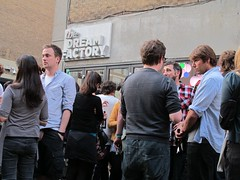 The opening evening at The Dream Factory exhibition