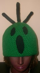 Cactus Head Hat (lavstarlight) Tags: cactus green hat weird magic crochet fantasy videogame finalfantasy geekery accessory cactuar lavenderstarlight knightsocoffee