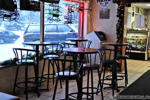 Bistro Tables in Bar Area at Roma ~ Willernie, MN