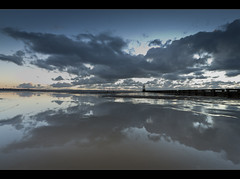 A certain symmetry, Crosby. Explored Frontpage (Ianmoran1970) Tags: sunset reflection beach landscape evening sand boots explore frontpage crosby wetsand muddyboots explored ianmoran ianmoran1970