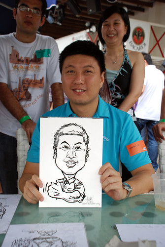 Caricature live sketching for VISA Beach Party 2010 -7
