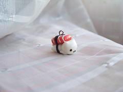 Nyanko sushi (CuteTanpopo) Tags: cold cute cat sushi handmade kitty charm biscuit creation clay kawaii porcelain polymer sanx nyanko airdry