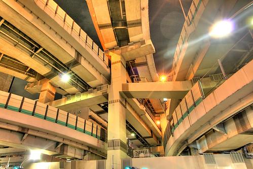 フリー写真素材|建築・建造物|道路・線路|夜景|日本|東京都|