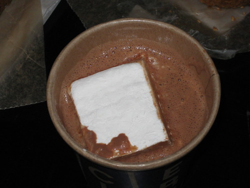Hot Chocolate with marshmallow at City Bakery