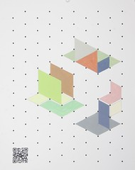 Composition 4.3 (burtonwood + holmes) Tags: flattened isometric sections modules qrcode flatearth tomburtonwood theearthisflat composition43 httptomburtonwoodcom