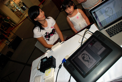 digital caricature live sketching @ Liang Court - day 3 - 3a