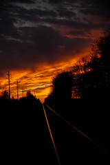 shouldn't we chose to seize the day (hardyc) Tags: sunset train path walk tracks ve holdhands thekindyouwishyoucouldshare