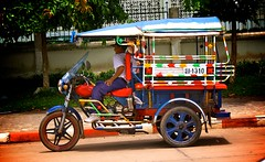Tuk Tuk in Laos (IV2K) Tags: rainbow asia vibrant tricycle taxi tuktuk laos lao vientiene