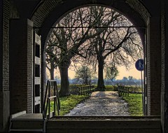 water gate (Wim Koopman) Tags: holland water netherlands dutch canon river photography photo gate stock powershot rhine rijn watergate stockphoto s90 waal merwede stockphotography s100 gorinchem gorkum wpk s95