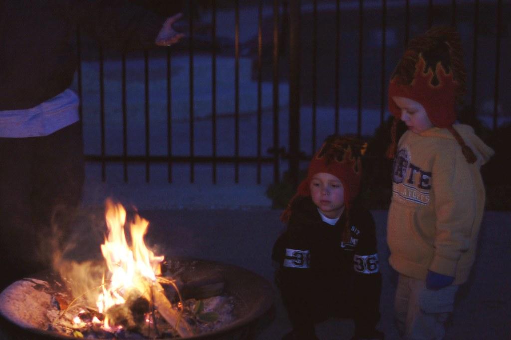firepit, boys 2010