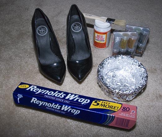 DIY GlitterShoes1