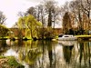 Spring in Wandsford (saxonfenken) Tags: trees reflection boat spring nene 195 cambs gamewinner wandsford thechallengefactory yourock1stplace pregamewinner 195boats