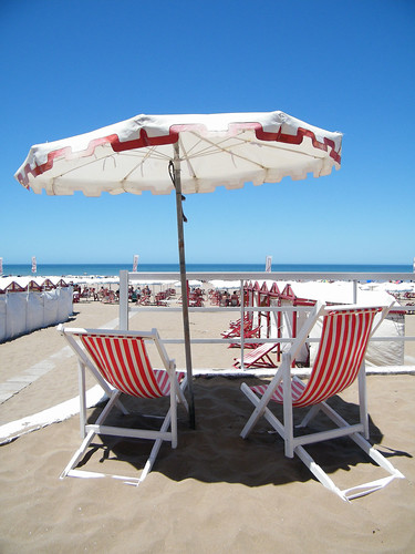 Umbrella and Chairs at the Beach Club, Necochea, Argentina by katiemetz, on Flickr