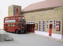 Dorking bus garage diorama (kingsway john) Tags: ds dorking bus garage kingsway models station london transport rtw card kits 176 scale diorama londontransportmodel model oo gauge miniature