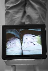eBench: the iPad edition (Cat Johnson) Tags: selfportrait feet thankyou hellokitty selfie selectivecolour hbm ipad amazingfriend gadgetgirl 10354 selfportraitwithinaselfportrait benchmonday project36612011 10january2011 jamesandiarebickeringoverwhothoughtofthisidea isayitwasmewithtweaksandhelpfromhim itsacollaborativeeffortthoughbecauseistoodthereachinglyfiringtheremotecontroltotaketheshotswhilejamesbalancedthecameraonthetripodandcheckedthedisplayaftereachshot ohandhebalancedtheipadonmyfeet iamactuallywearingthehellokittytrainersbehindtheipad ebenchtheipadedition howinlovewiththeipadami