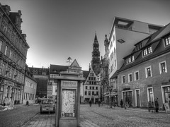 Blick auf Dom b/w (drm73photographie) Tags: city friends bw buildings germany deutschland sachsen zwickau schwarzweiss gebude hdr concordians canonixus860is phoddastica drm73 drmseventythree
