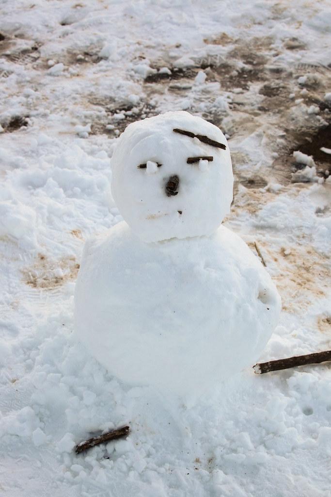 Snowman at Mount Maya