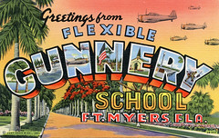 Greetings from Flexible Gunnery School, Ft. Myers, Florida - Large Letter Postcard (Shook Photos) Tags: florida linen postcard military airplanes postcards planes greetings ftmyers linenpostcard fortmyers bigletter fortmyersflorida largeletter ftmyersflorida largeletterpostcard linenpostcards gunneryschool largeletterpostcards bigletterpostcard bigletterpostcards flexiblegunneryschool