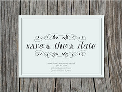 Floral Save the Date (blush printables) Tags: flowers wedding typography inspired marriage savethedate swirl breathe paleblue enclosure babyblue 5x7 savethedateannouncement