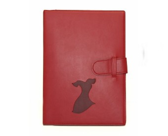 Go Red Leather Journal