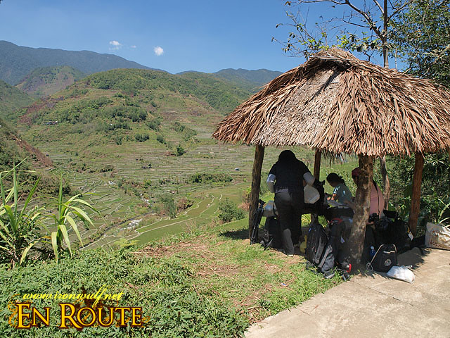 Lunch at a hut in Hapao