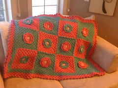 Baby Flower Power (whitewaytolight) Tags: baby flower hat handmade crochet blanket afghan granny beanie grannysquare swapbot