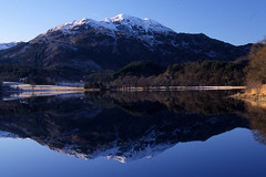 Loch Achray (DFH Photos) Tags: winter lake reflection nature water landscape scotland bluesky loch