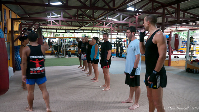learning muay thai in Thailand