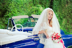 Bride Ksenia in Havana, Cuba (Mukhina Ekaterina) Tags: blue wedding beautiful car photography bride photographer cuba abroad destination katja carribbean  ekaterina   mukhina           ispwp